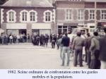 1982 sc ne ordinaire de confrontation entre les gardes mobiles et la population