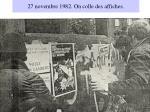 27 novembre 1982 on colle des affiches