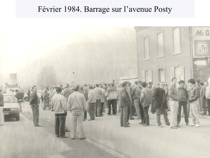 Février 1984. Barrage sur l'avenue Posty