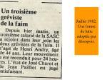 juillet 1982 une forme de lutte adopt e par d sespoir