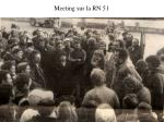 meeting sur la rn 51