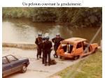 un peloton couvrant la gendarmerie