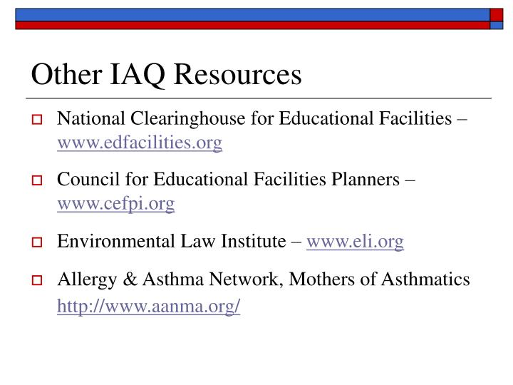 Other IAQ Resources