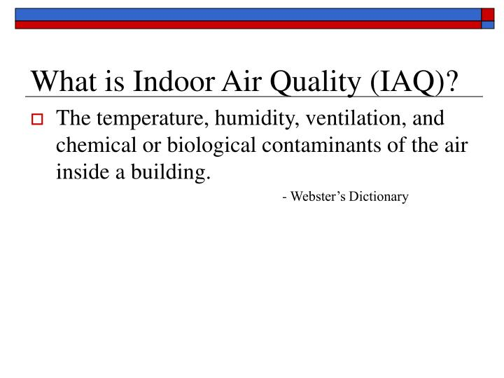 What is indoor air quality iaq