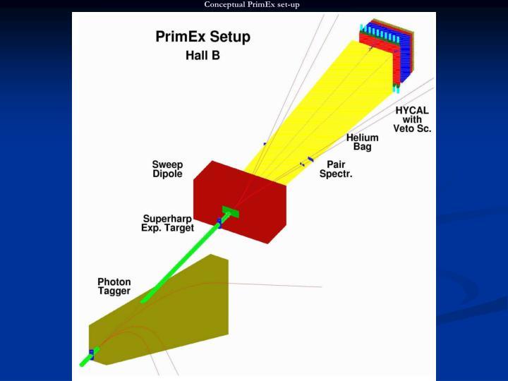 Conceptual PrimEx set-up