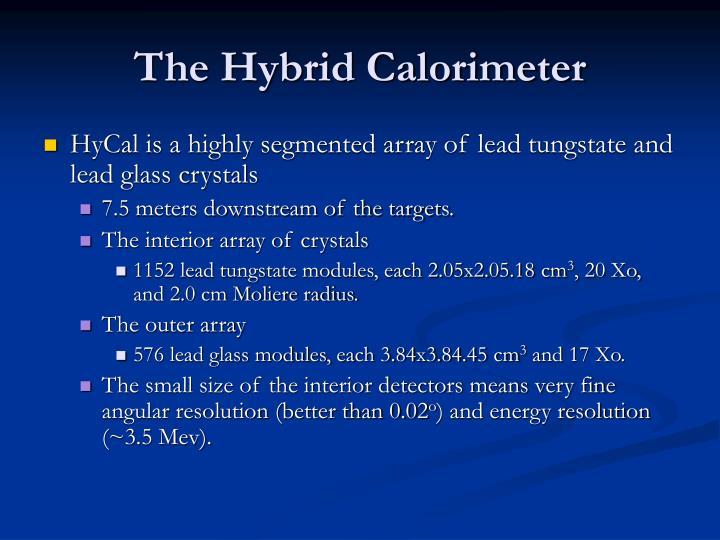 The Hybrid Calorimeter
