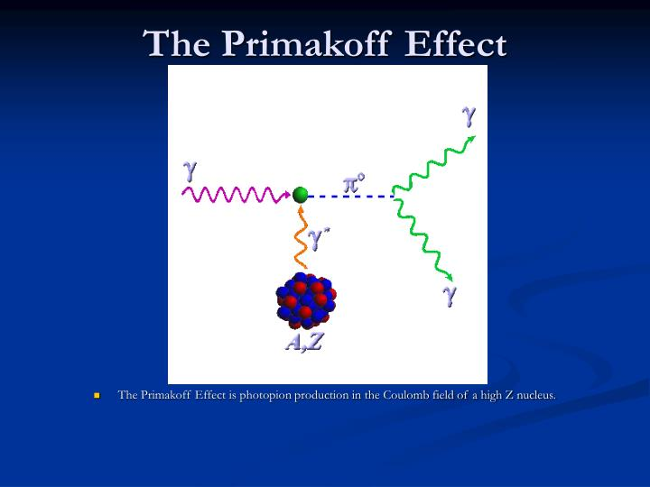 The Primakoff Effect