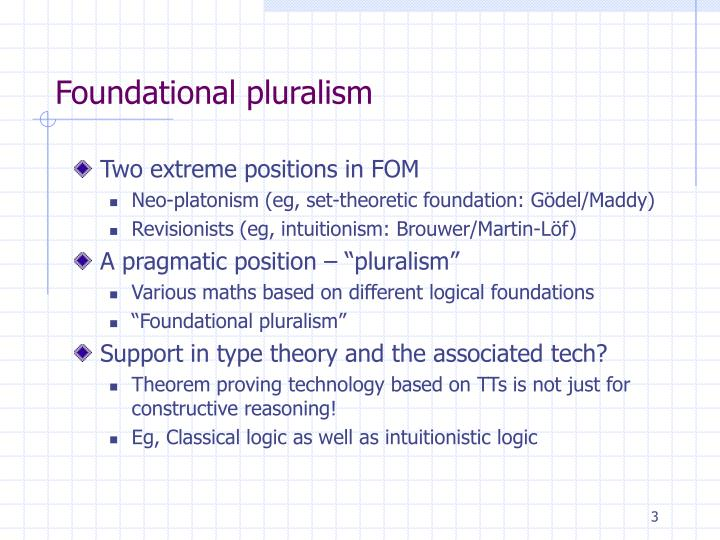 Foundational pluralism