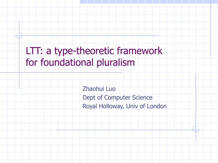 Ltt a type theoretic framework for foundational pluralism