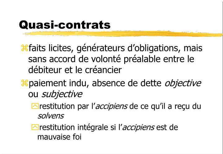 Quasi-contrats