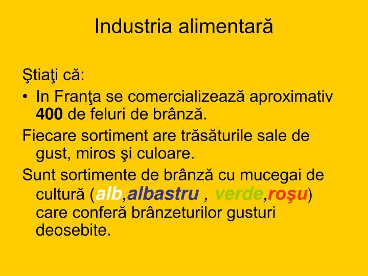 Industria alimentară