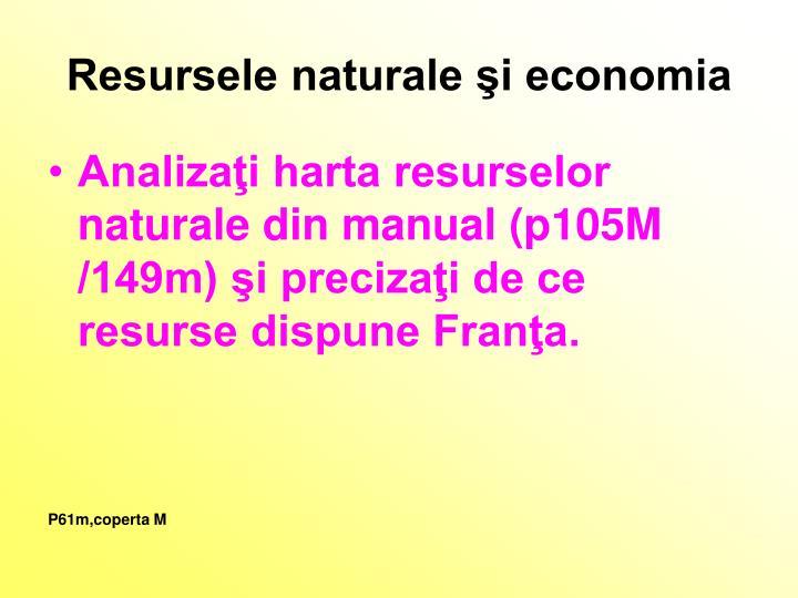Resursele naturale şi economia