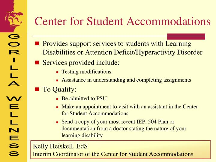 Center for Student Accommodations
