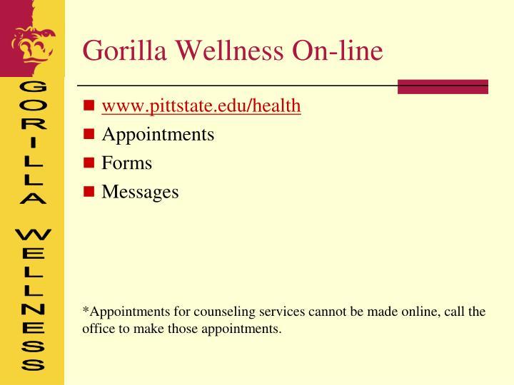 Gorilla Wellness On-line