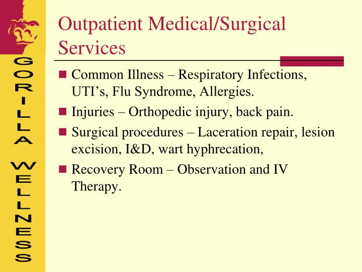 Outpatient Medical/Surgical