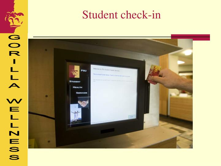 Student check-in