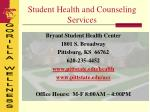 student health and counseling services