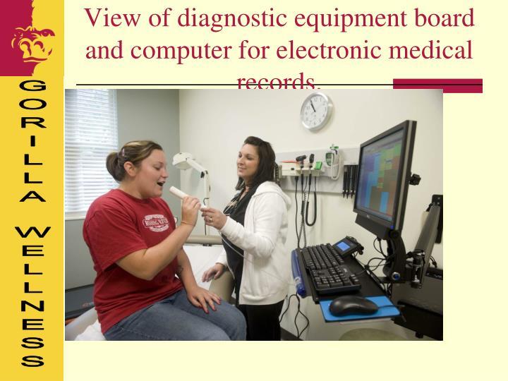 View of diagnostic equipment board