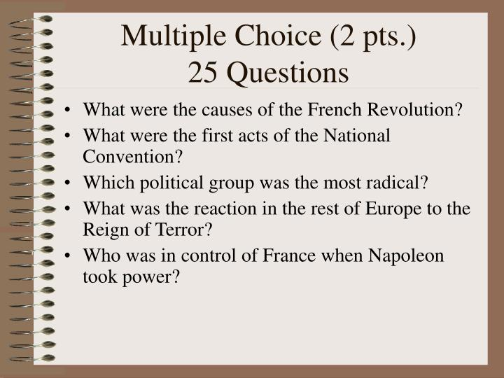 Multiple Choice (2 pts.)