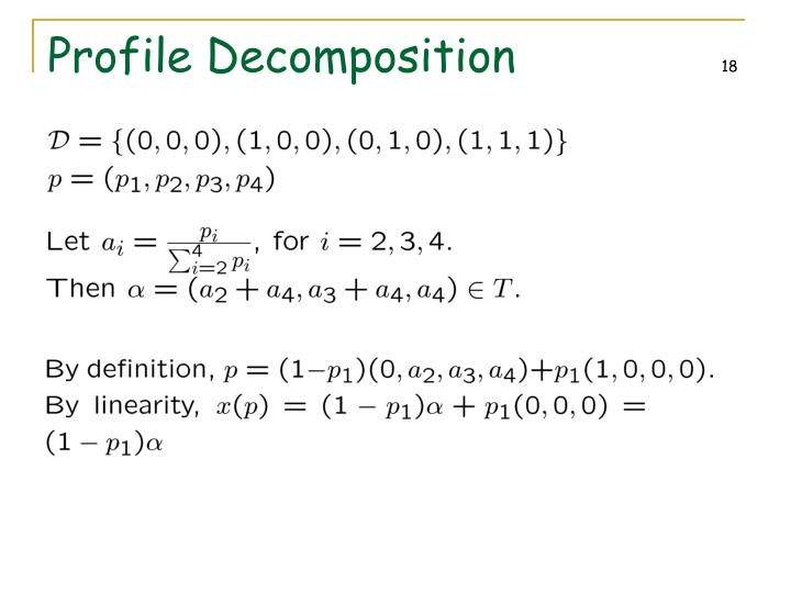 Profile Decomposition