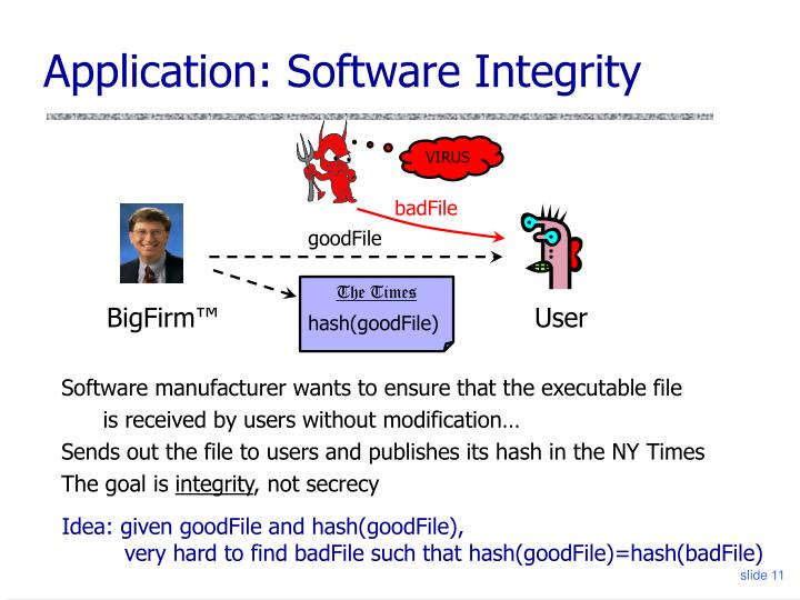 Application: Software Integrity