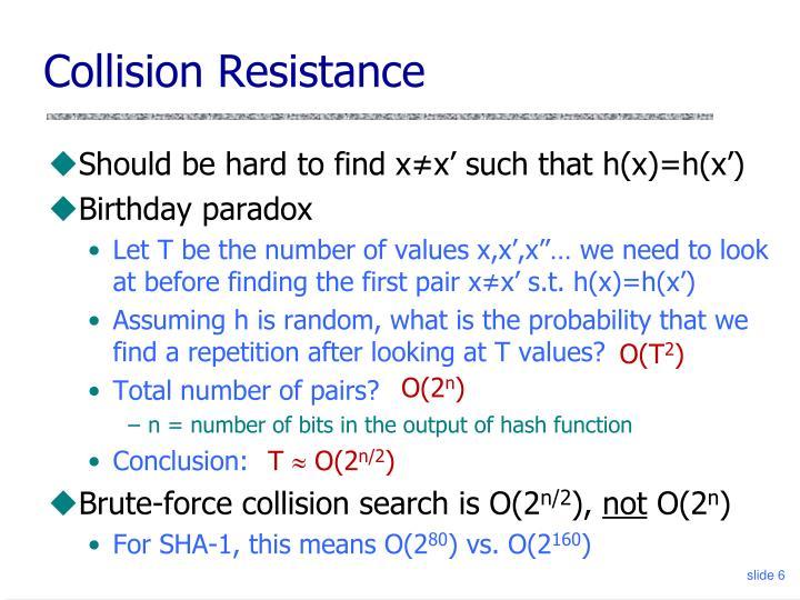 Collision Resistance