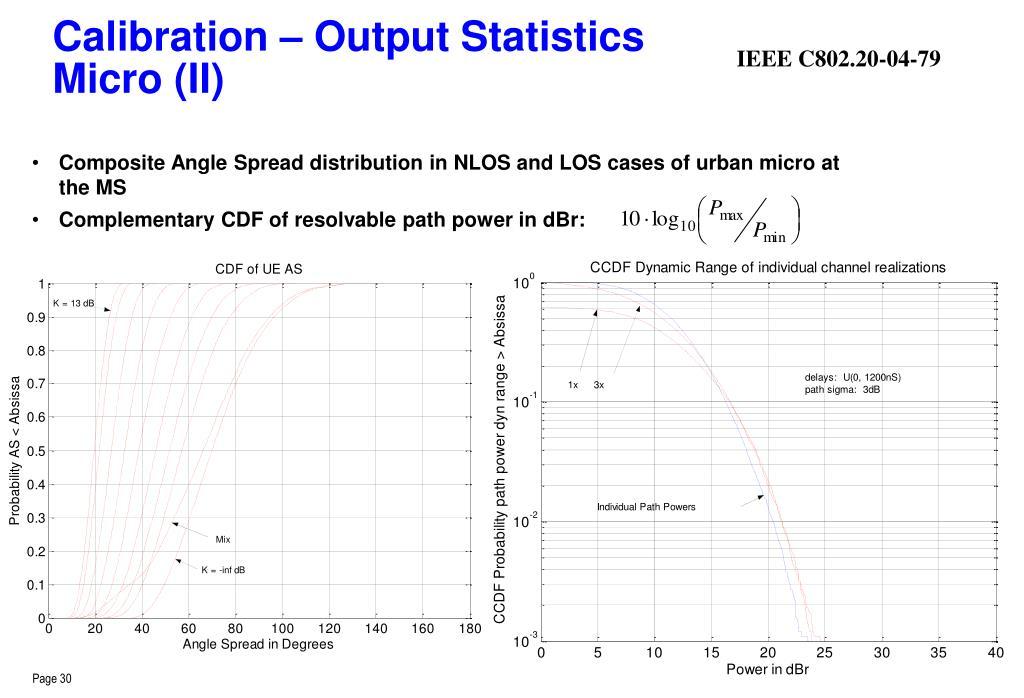Calibration – Output Statistics