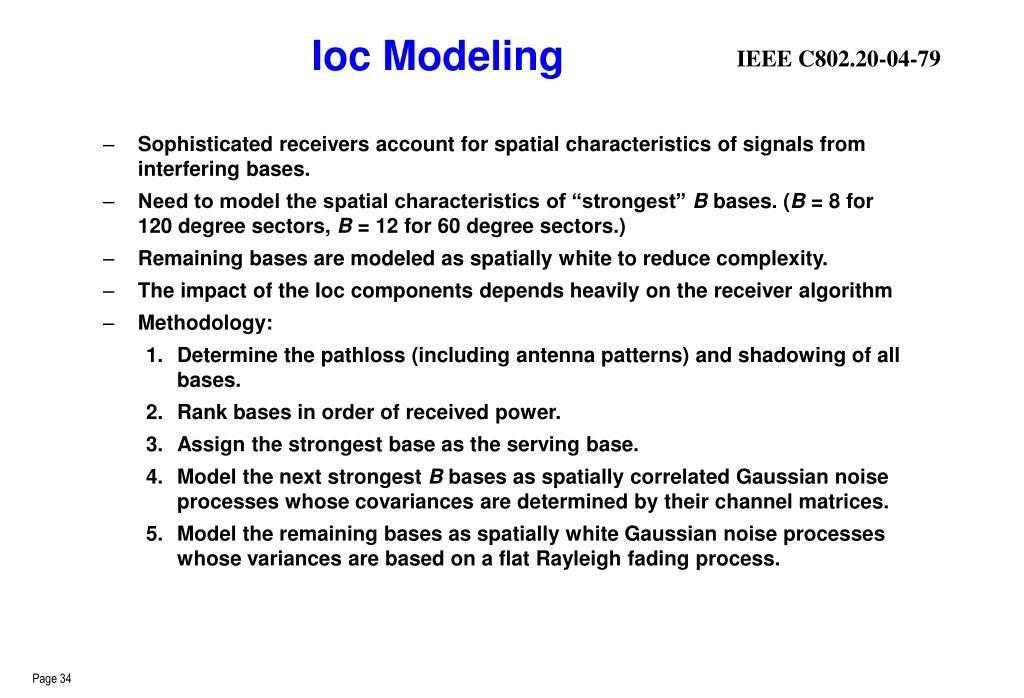 Ioc Modeling