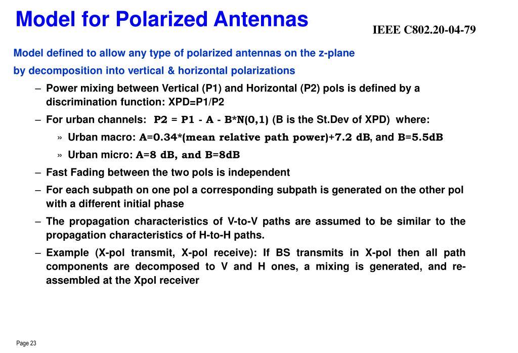 Model for Polarized Antennas