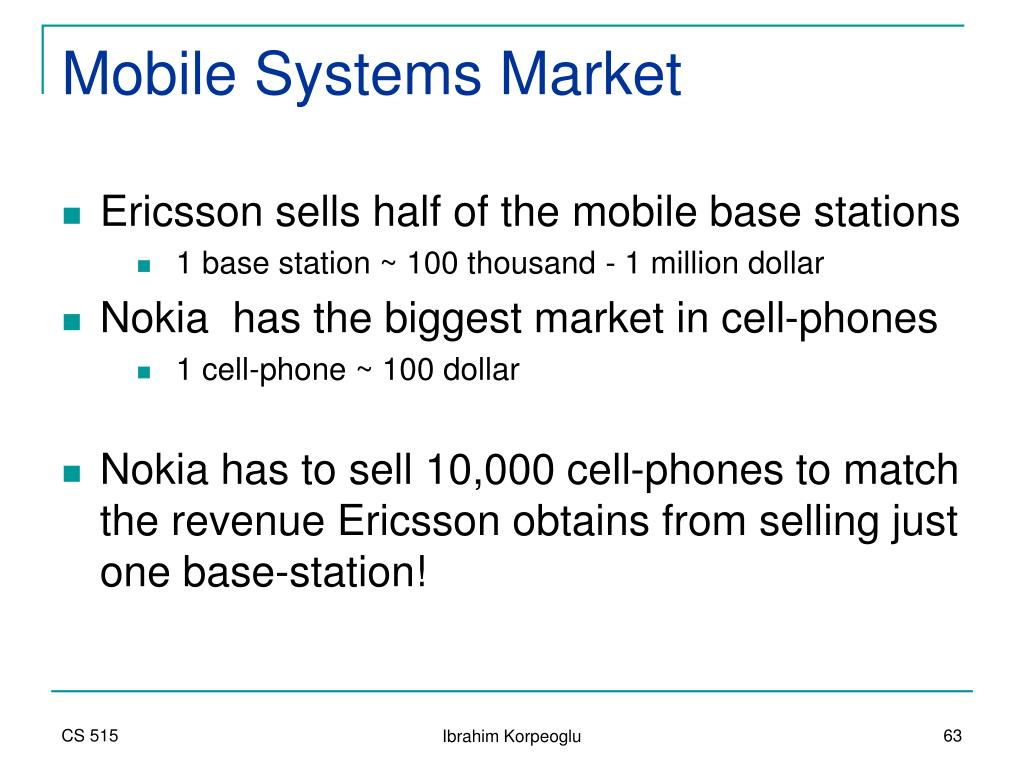 Mobile Systems Market
