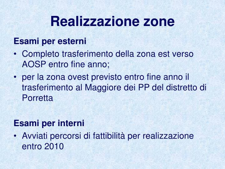 Realizzazione zone