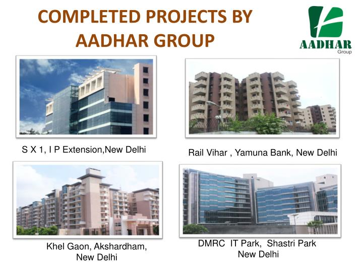 COMPLETED PROJECTS BY AADHAR GROUP
