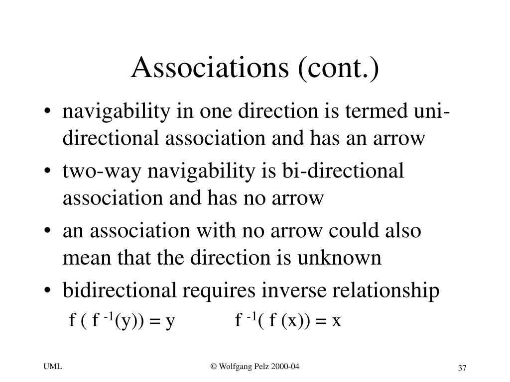 Associations (cont.)