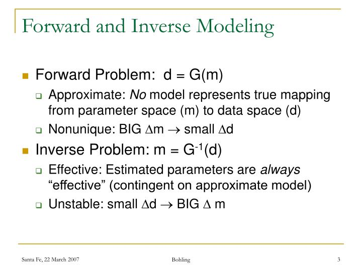 Forward and Inverse Modeling