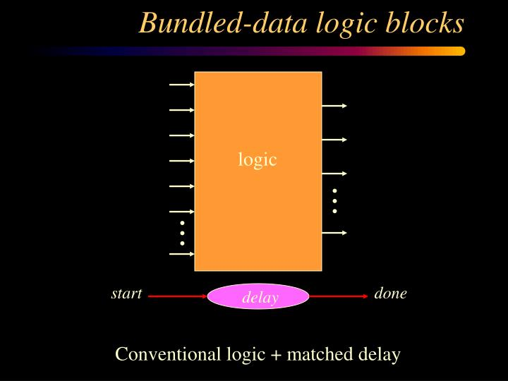 Bundled-data logic blocks