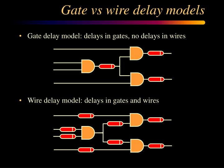 Gate vs wire delay models