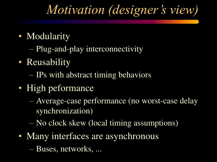Motivation (designer's view)