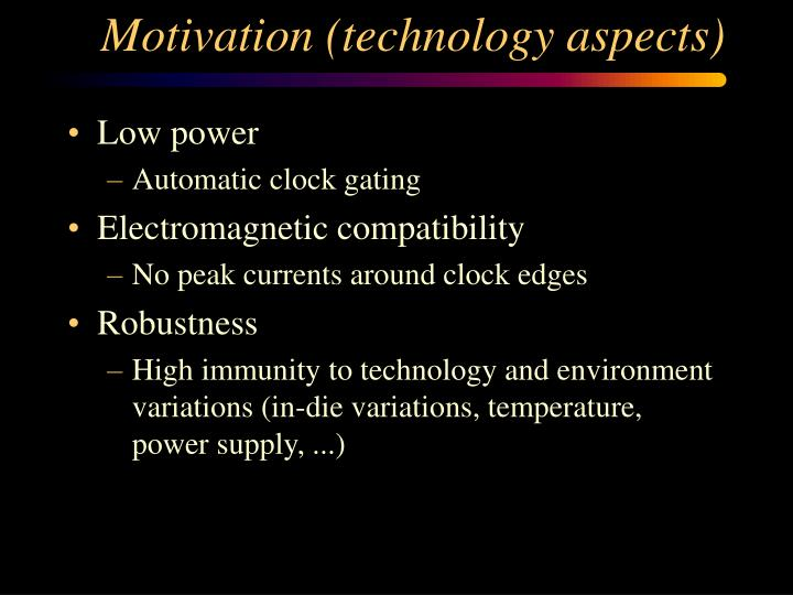 Motivation (technology aspects)