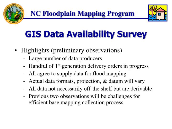 Gis data availability survey