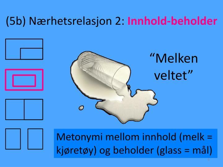 (5b) Nærhetsrelasjon 2: