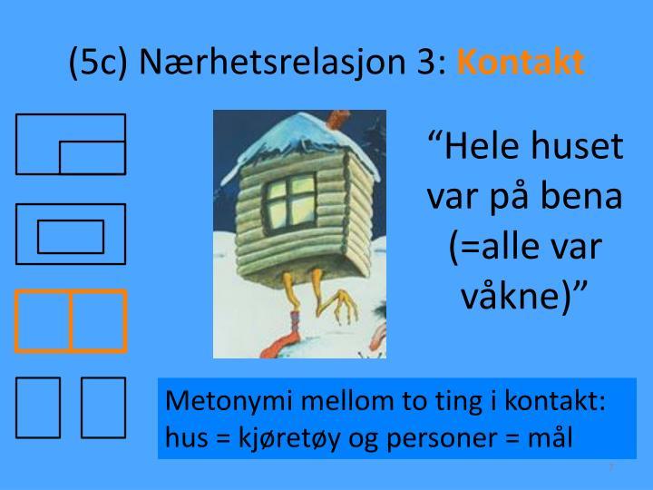 (5c) Nærhetsrelasjon 3: