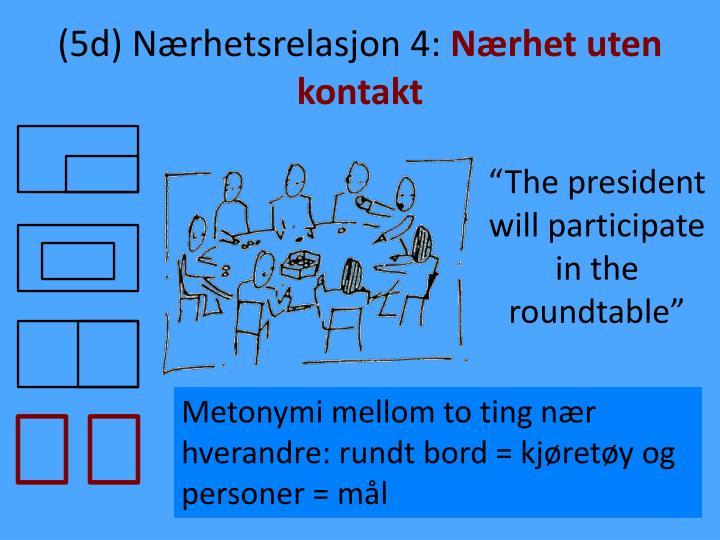 (5d) Nærhetsrelasjon 4: