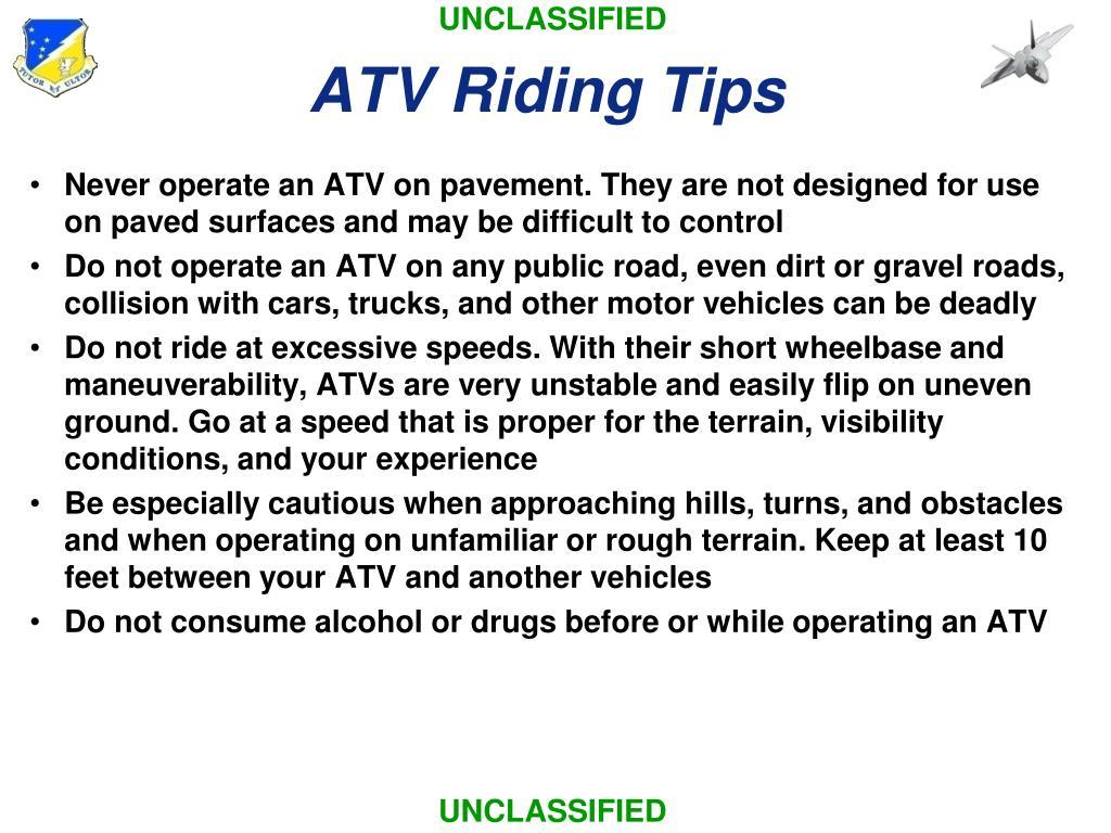 ATV Riding Tips