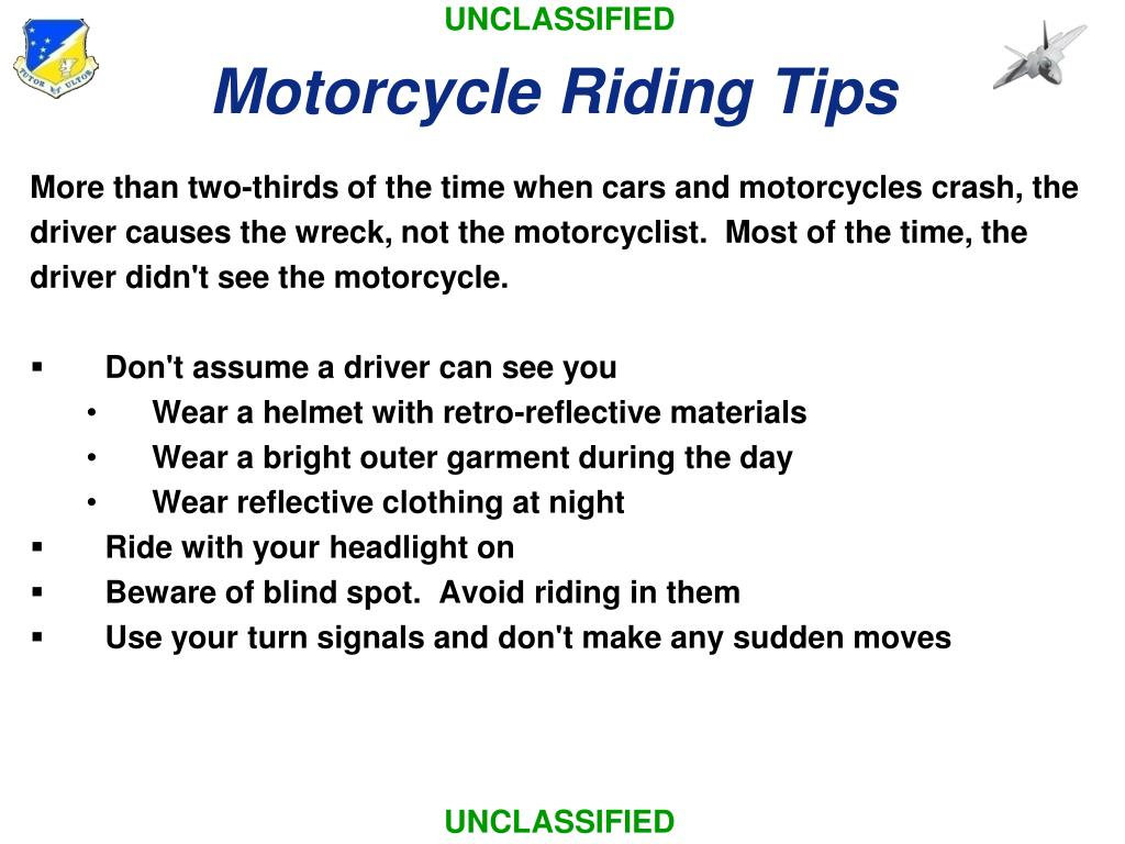 Motorcycle Riding Tips