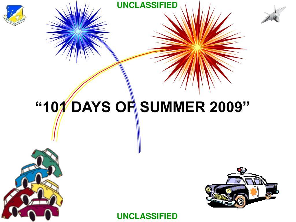 """101 DAYS OF SUMMER 2009"""
