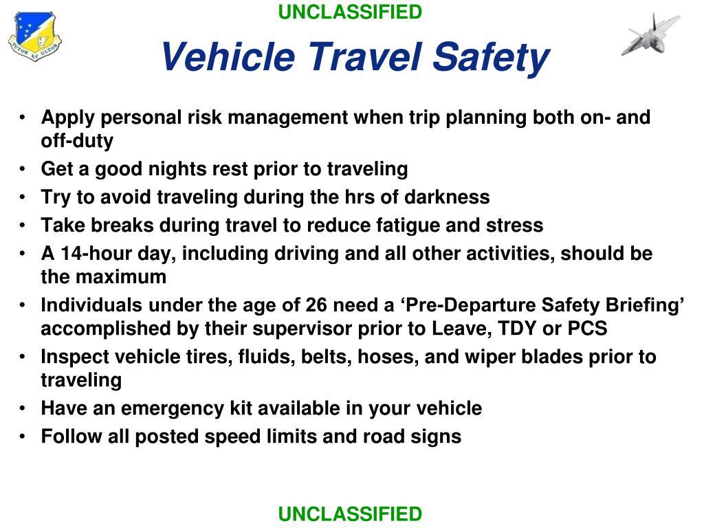 Vehicle Travel Safety