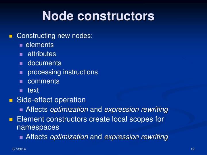 Node constructors
