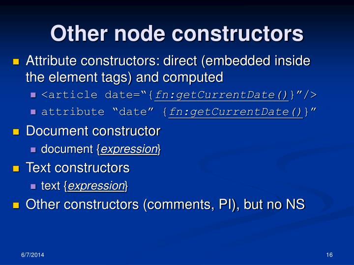 Other node constructors