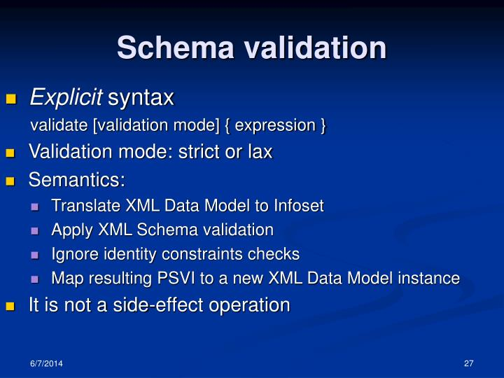 Schema validation