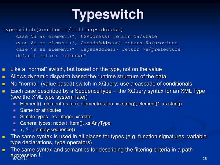 Typeswitch